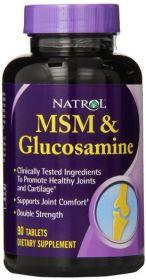Natrol MSM & Glucosamine Double Strength (90 табл.)