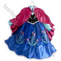 Платье костюм Анны Холодное сердце Люкс