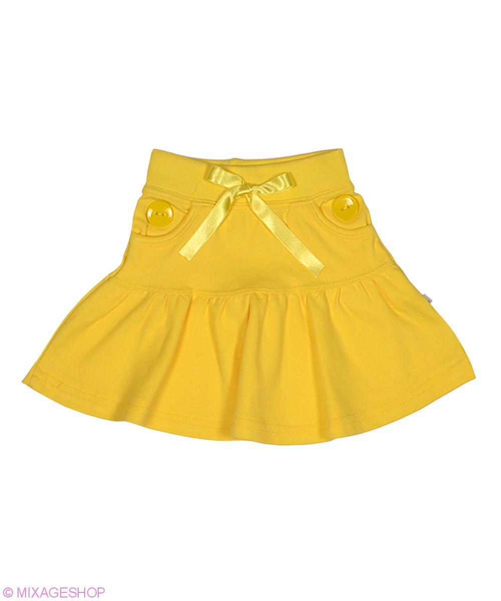 Яркая трикотажная юбка однотонной расцветки