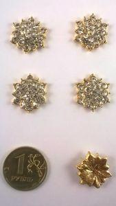 ` Кабошон, металл, цвет основы - золото, 15мм.