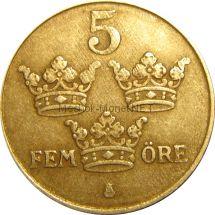 Швеция 5 эре 1949 г.