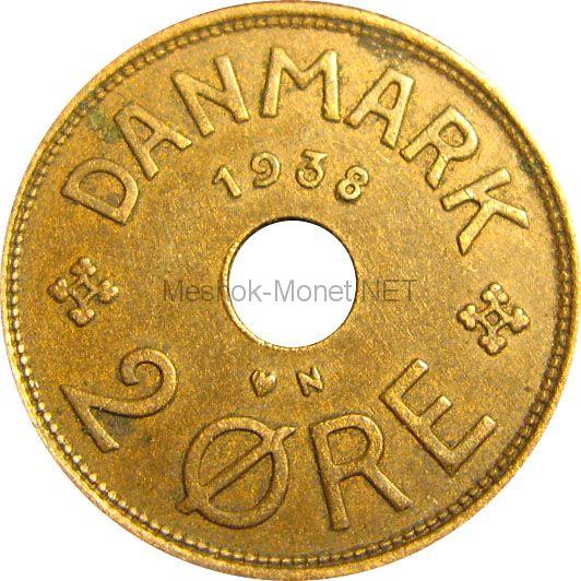 Дания 2 эре 1936 г.
