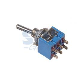 Двухполюсный тумблер 250V 3А (6c) ON-OFF-ON Micro (MTS-203)
