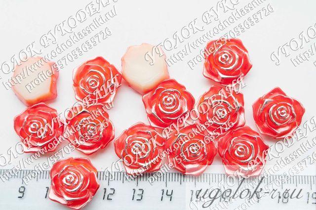 Кабошон роза 15 мм