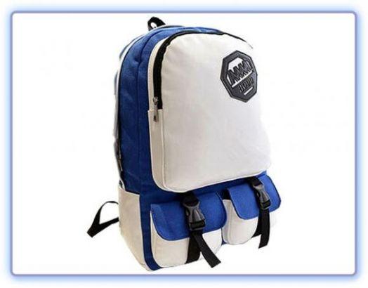 Городской бело-синий рюкзак 106