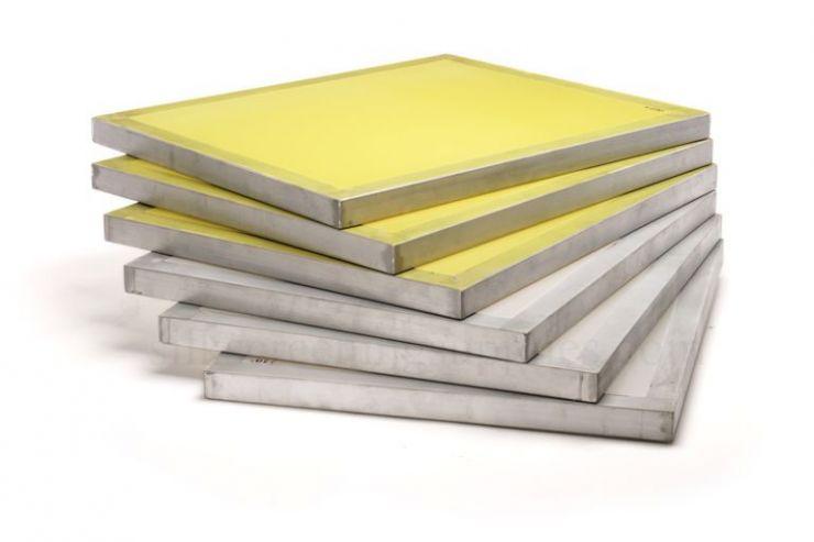 Печатная рама: внутренний размер 600*500мм, профиль 30*30мм с натянутой сеткой 100/40, 18 N/cм
