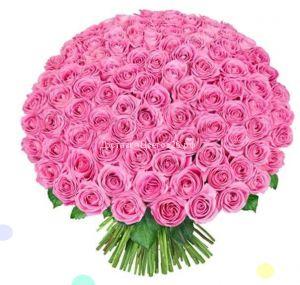 51 и 101 розовая роза по оптовой цене