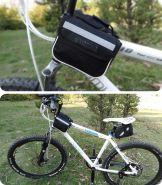 Двусторонняя сумка на раму велосипеда