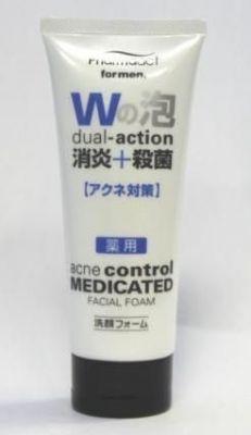 Японская мужская пенка для умывания с антибактериальным и противовоспалительным действием Deev Pharmaact
