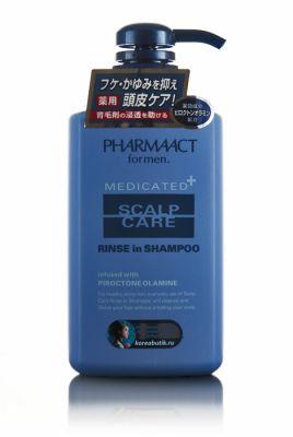 Японский шампунь 2 в 1 против перхоти и зуда кожи головы, для мужчин Deev Pharmaact