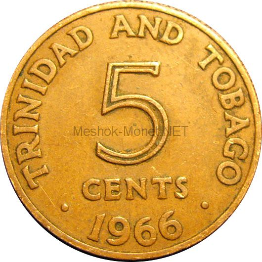 Тринидад и Тобаго 5 центов 1967 г.