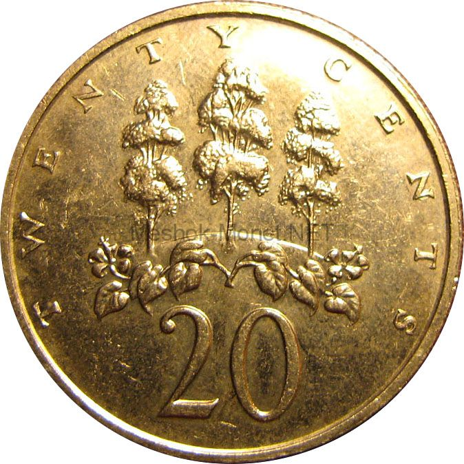Ямайка 20 центов 1988 г.