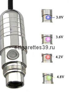 Электронная сигарета eGo VV Passthrough - индикация напряжения