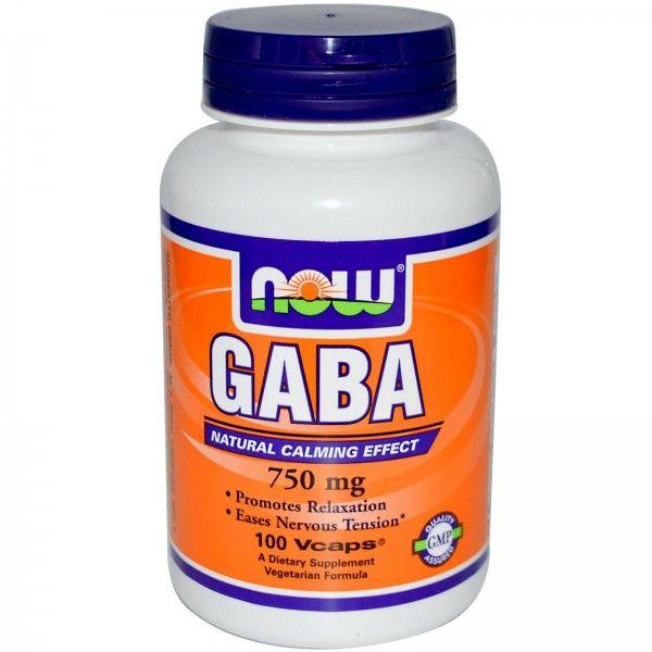 NOW - GABA 750mg (100 капс)
