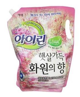 Корейский кондиционер для белья АЙРИН Fabric Softener против неприятного запаха KeraSys 2100мл