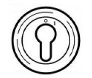 Накладка выкл. с ключом 2-х позиц. белая (арт.68009)