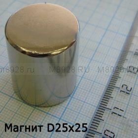 Магнит 25х25мм неодимовый (38кг)
