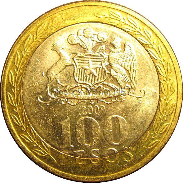 Чили 100 песо 2004 г.