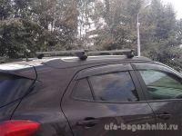 Багажник на крышу Opel Mokka, Атлант, прямоугольные дуги на рейлинги