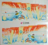 Водная наклейка для дизайна ногтей С096