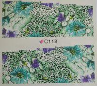 Водная наклейка для дизайна ногтей С118