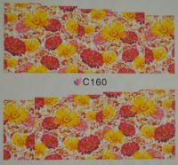 Водная наклейка для дизайна ногтей С 160