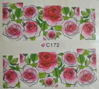 Водная наклейка для дизайна ногтей С 172
