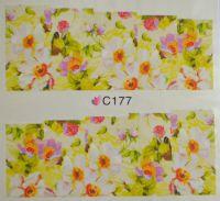 Водная наклейка для дизайна ногтей С 177