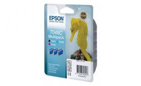 Экономичный набор из 3х картриджей (черный, голубой, пурпурный) для Epson Stylus Photo R200, R220, R330, R300M3, R320, R340, RX500, RX600, RX620, RX645