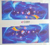 Водная наклейка для дизайна ногтей С 091