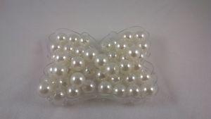 Бусины, пластик, 6 мм, цвет: белый 1уп = 50г (~450 шт)