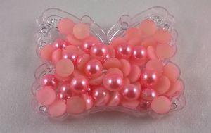 Полубусины, пластик, 10мм, цвет: розовый, 1уп = 50г(~220шт)