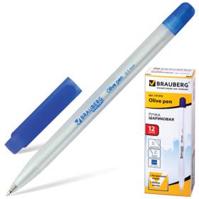 "Ручка масл  ""BRAUBERG ""Olive pen"", 0,5мм, синяя. 141476"