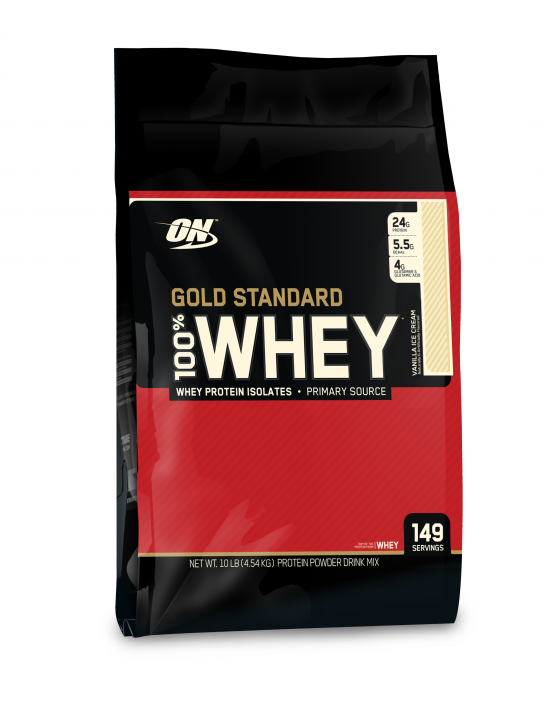 OPTIMUM NUTRITION 100% Whey Protein Gold standard 10 lb (4,54кг.)  скл2 1-2 дня