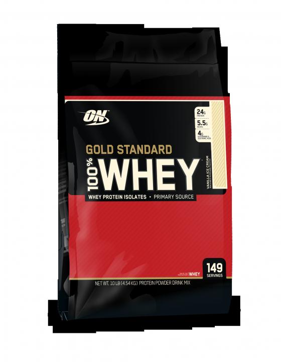OPTIMUM NUTRITION 100% Whey Protein Gold standard 10 lb (4,54кг.)  скл2 1-2 дня