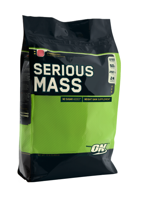 OPTIMUM NUTRITION Serious Mass 12lb (5,44кг.) Strawberry - клубника (скл2 1-2дня)