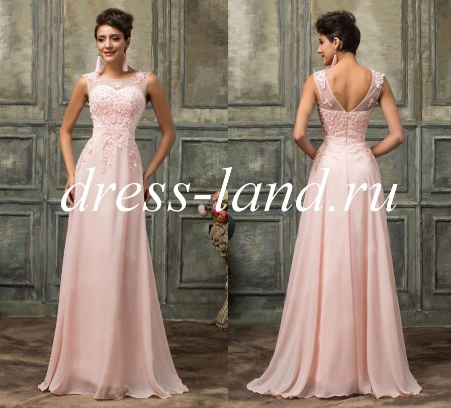 51117a04098ee1b Кремовое вечернее платье на молнии