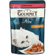Gourmet Perle - Кусочки в подливе с лососем (85 г)
