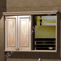 """Зеркало-шкаф в ванную """"Челси-2 КОМБИ-L береза"""""""