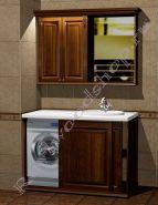"""Мебель для ванной """"Челси-2 КОМБИ-L орех"""""""