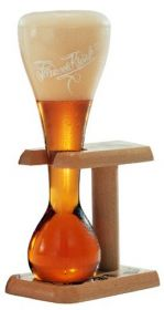 Бокал для пива KWAK на деревянной подставке 330 мл