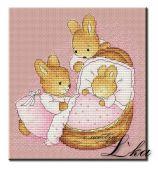 Схема для вышивки крестом Little bunny