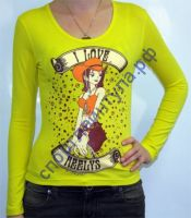 Футболка женская Love Long Sleeve Citron, арт. 4308