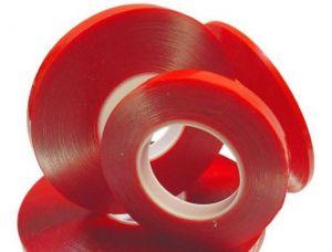 Скотч двухсторонний (5 мм x 25 м) 0,05 мм (red)