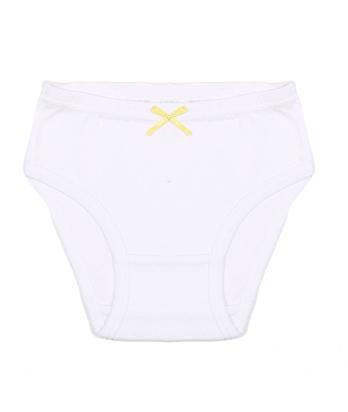 Белые детские трусы Желтый бантик