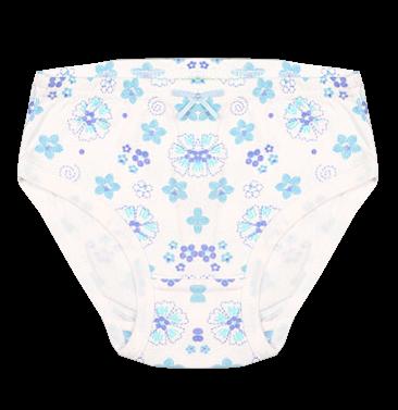 Белые трусы в синий цветочек