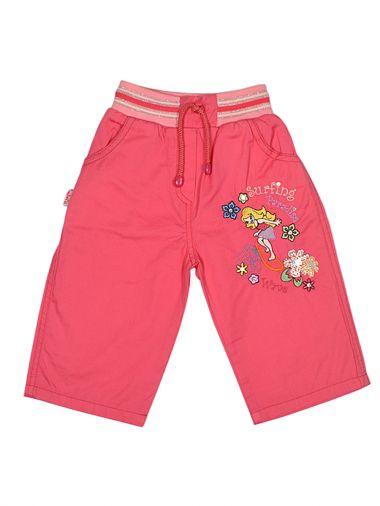 Хлопковые капри с карманами и аппликацией