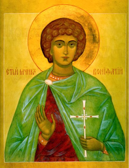 Вонифатий Тарсийский (рукописная икона)