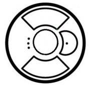Накладка выкл.  для управл. рольставнями многозонального ИК/PLC сл. кость(арт.66296)