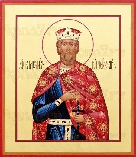 Икона Вячеслав Чешский (рукописная)